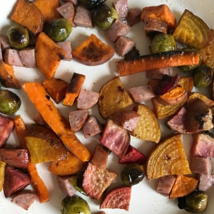 Roasted veggie prep, great to have on hand